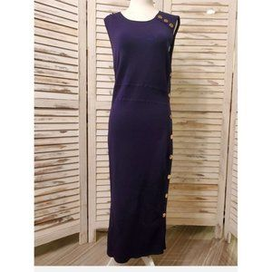 Navy fitted nautical dress